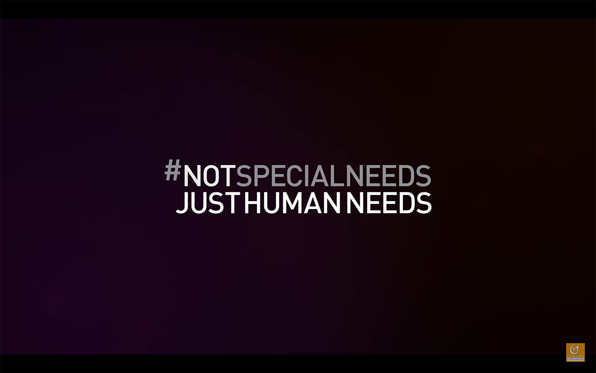Not special needs, just human needs